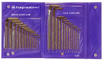 ALLEN KEY SET, SAE & METRIC IN POUCH