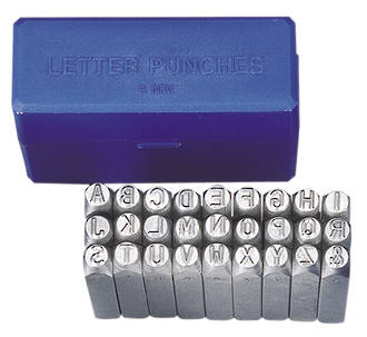 6mm LETTER PUNCH SET