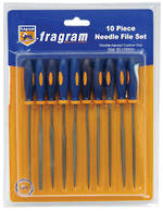 10 PCE RUBBER GRIP NEEDLE FILE SET