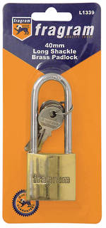 50mm BRASS PADLOCK LONG SHACKLE