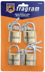 40mm KEY ALIKE PADLOCKS (PCK OF 4)
