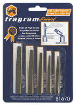 5 PCE CHROME MOLYBEDUM SCREW EXTRACTOR SET