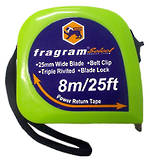 FRAGRAM STEEL TAPE MEASURE MM/SAE 8MTR