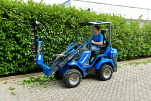 MultiOne mini loader 6 series with flail mower whit double hedge trimmer