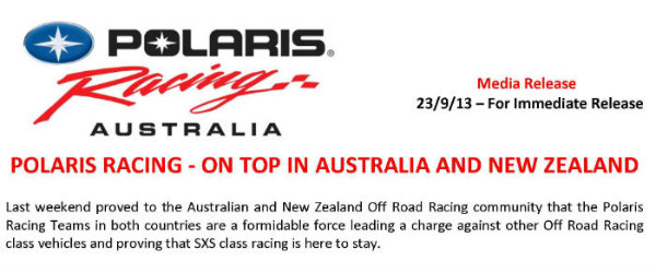 Polaris Racing Aus and NZ